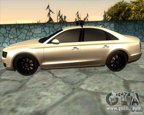 Audi A8 2010 v2.0 for GTA San Andreas left view