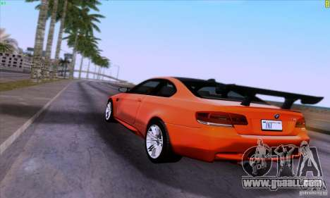 BMW M3 E92 v1.0 for GTA San Andreas side view