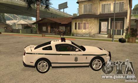 Shelby GT500 2010 Police for GTA San Andreas back view