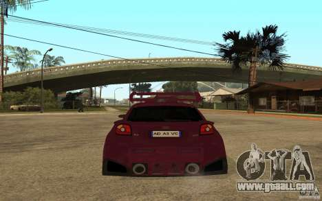 Audi A3 Tuned for GTA San Andreas back left view