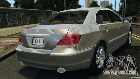 Honda Acura RL for GTA 4 back left view