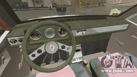 Renault 12 Toros rusty v2.0 for GTA 4 inner view