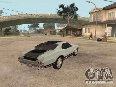 SabreGT from GTA 4 for GTA San Andreas right view