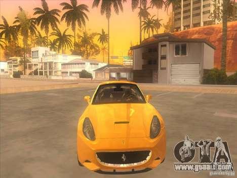 Ferrari California for GTA San Andreas inner view