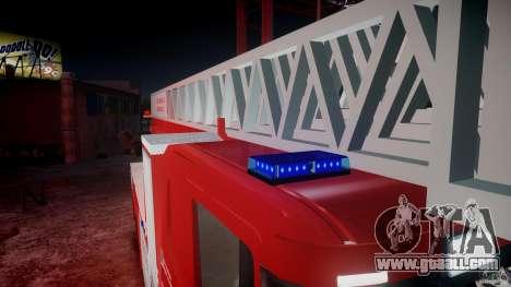 Scania Fire Ladder v1.1 Emerglights blue-red ELS for GTA 4