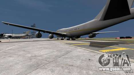 Real Emirates Airplane Skins Gold for GTA 4 left view