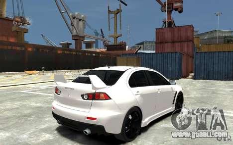 Mitsubishi Lancer Evo X v.1.0 for GTA 4 right view