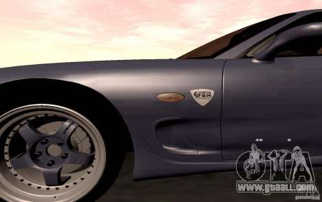 Mazda RX-7 Hellalush for GTA San Andreas side view