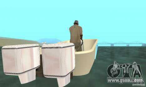 Bathtub Dinghy for GTA San Andreas back left view