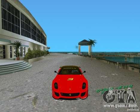 Ferrari 599 GTO for GTA Vice City left view