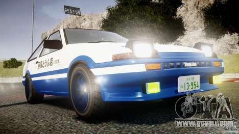 Toyota Trueno AE86 Initial D for GTA 4 side view