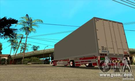 Hino Ranger for GTA San Andreas back left view
