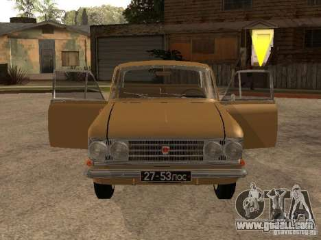 Moskvitch 408 Elite for GTA San Andreas back view
