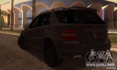 Mercedes-Benz ML63 AMG Brabus for GTA San Andreas back left view