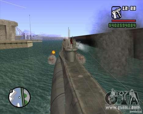 U99 German Submarine for GTA San Andreas eighth screenshot