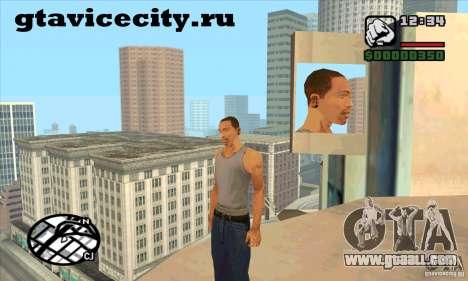 Piercing mod + white CJ for GTA San Andreas second screenshot