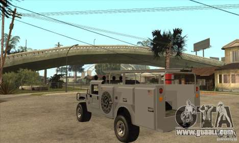 Hummer H1 Utility Truck for GTA San Andreas back left view