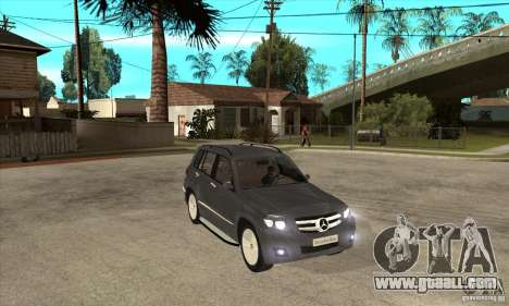Mercedes Benz GLK300 for GTA San Andreas back view