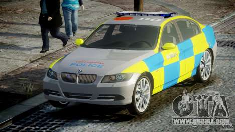 BMW 350i Indonesian Police Car [ELS] for GTA 4 back view