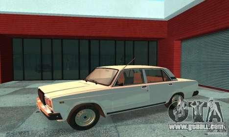 Vaz 2107 v. 3 for GTA San Andreas left view