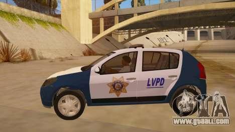 Renault Sandero Police LV for GTA San Andreas left view