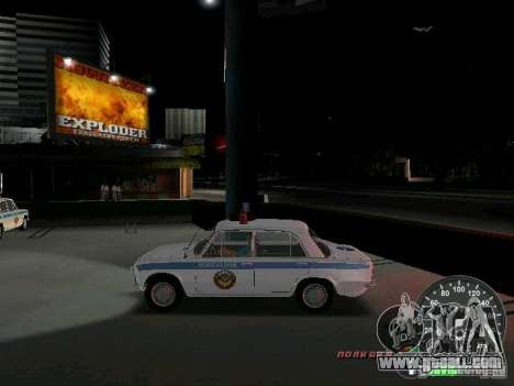 VAZ 2101 Police for GTA Vice City left view