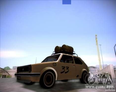 Volkswagen Golf MK1 rat style for GTA San Andreas back left view