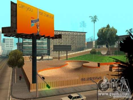 New SkatePark v2 for GTA San Andreas eleventh screenshot
