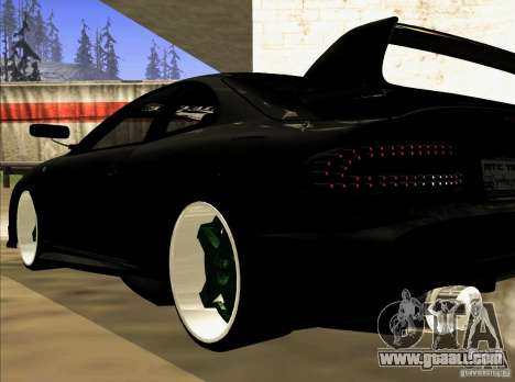 Toyota Celica 1993 Light tuning for GTA San Andreas inner view