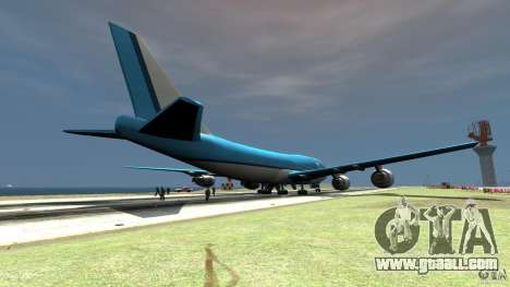 Real KLM Airplane Skin for GTA 4 back left view
