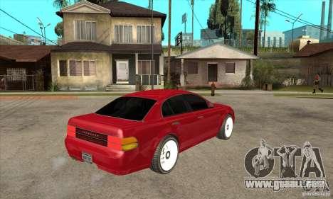 GTA IV Intruder for GTA San Andreas right view