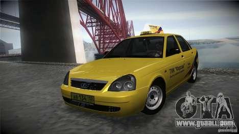 LADA 2170 Priora Taxi TMK Afterburner for GTA San Andreas
