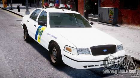 Ford Crown Victoria New Jersey State Police for GTA 4 bottom view