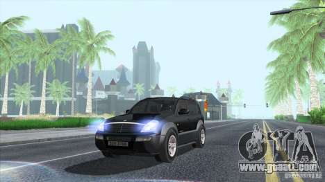 SsangYong Rexton 2005 for GTA San Andreas upper view