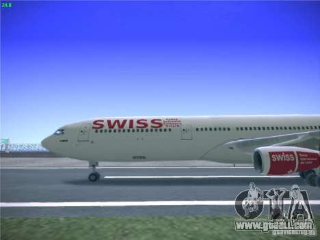 Airbus A340-300 Swiss International Airlines for GTA San Andreas left view