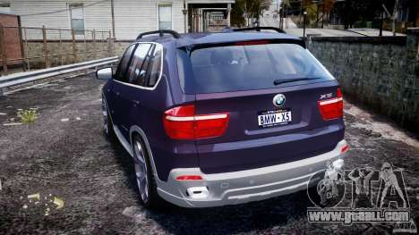 BMW X5 xDrive 4.8i 2009 v1.1 for GTA 4 back left view