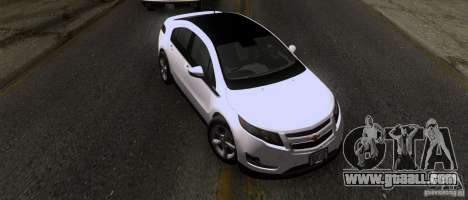 Chevrolet Volt 2012 Stock for GTA San Andreas