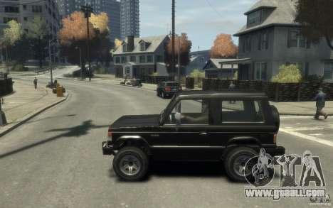 Mitsubishi Pajero I for GTA 4 left view