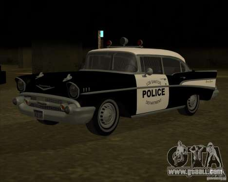 Chevrolet BelAir Police 1957 for GTA San Andreas