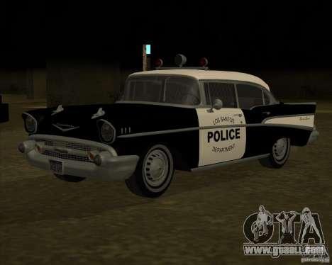 Chevrolet BelAir Police 1957 for GTA San Andreas