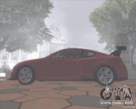 Hyundai Genesis Coupe for GTA San Andreas back view
