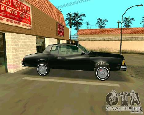 Chevrolet Monte Carlo 1979 for GTA San Andreas back view
