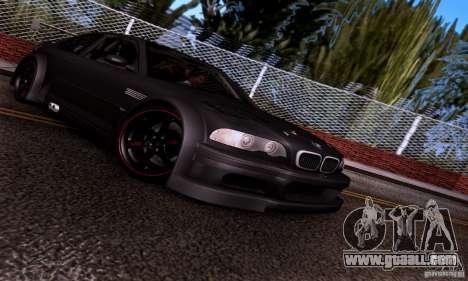 BMW M3 GTR v2.0 for GTA San Andreas inner view