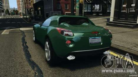Pontiac Solstice 2009 for GTA 4 back left view