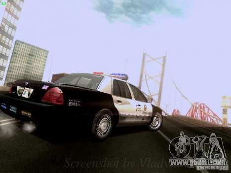 Ford Crown Victoria Los Angeles Police for GTA San Andreas right view