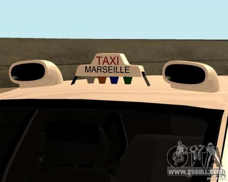 Peugeot 406 Taxi 2 for GTA San Andreas back view