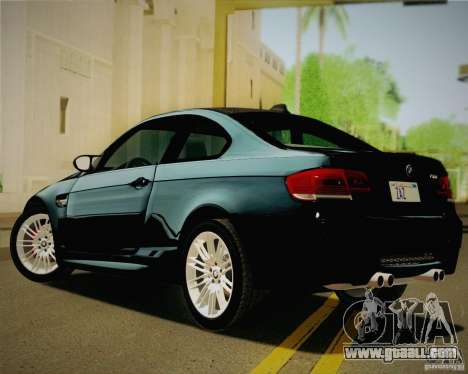 BMW M3 E92 v2.0 for GTA San Andreas left view
