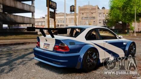 BMW M3 GTR MW 2012 for GTA 4 inner view