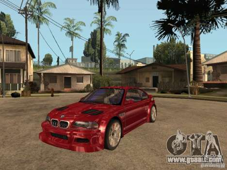 BMW M3 GTR Le Mans for GTA San Andreas