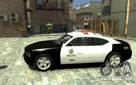 Dodge Charger LAPD V1.6 for GTA 4 left view